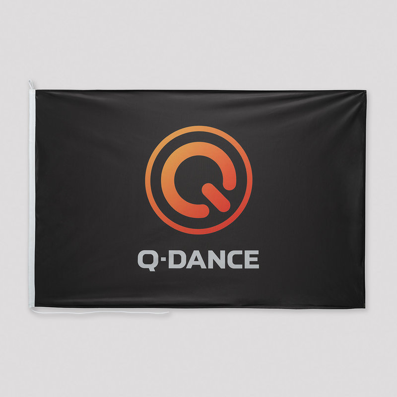 Q-Dance flag black