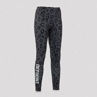 Defqon.1 leggings grey/leopard