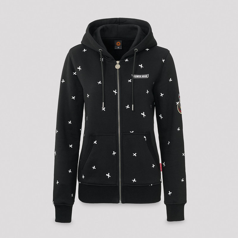 Defqon.1 Power Hour hooded zip black/crosses