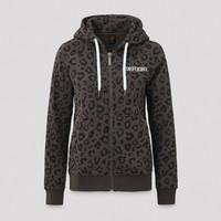 Defqon.1 boyfriend hooded zip grey/leopard