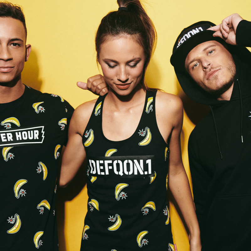 Defqon.1 Power Hour tanktop black/banana