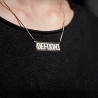 Defqon.1 silver bar necklace