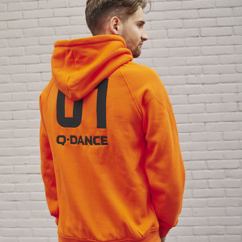 Q-Dance hoodie orange/black