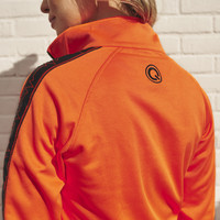 Q-Dance track jacket orange/black