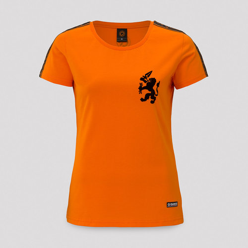 T-shirt women orange/black