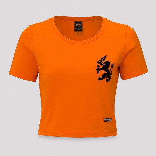 Q-Dance short tee orange/black