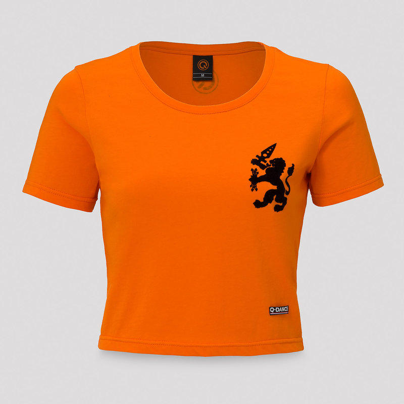 Q-Dance short tee orange/black