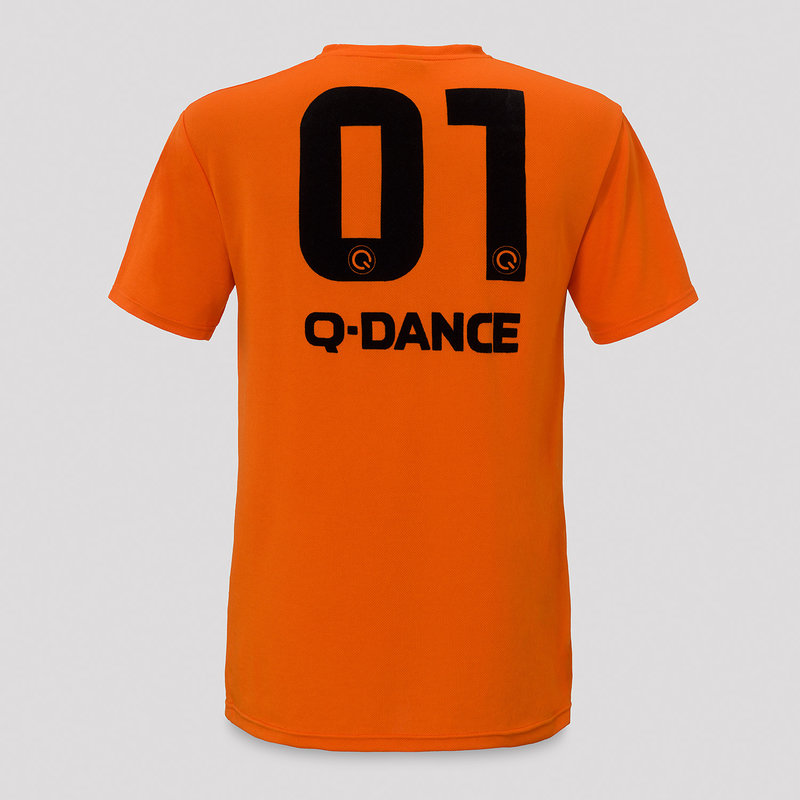 Q-dance football shirt orange/black