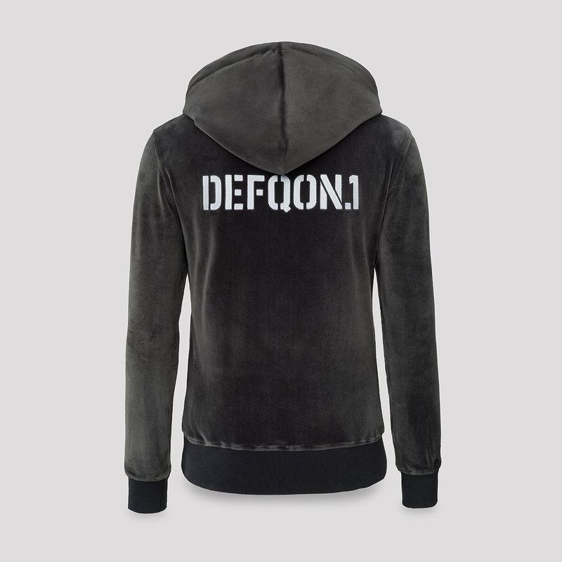 Defqon.1 velvet hoodie grey