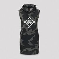 Defqon.1 hooded dress grey/black camo