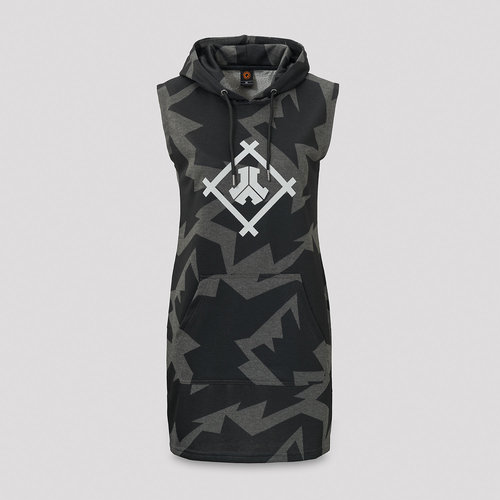 Defqon.1 hooded dress grey/black camo