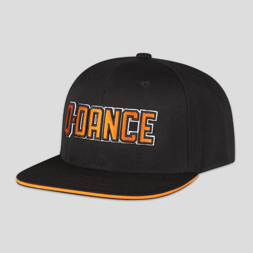 Q-dance snapback black/orange