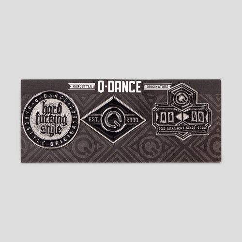 Q-dance pin buttons grey