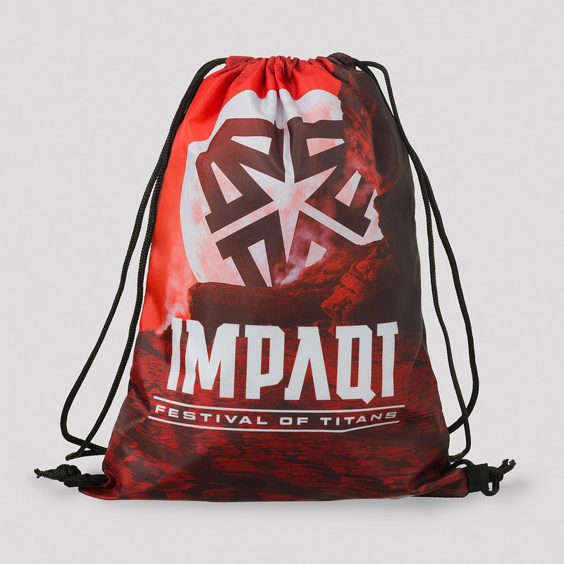 Impaqt stringbag orange/white