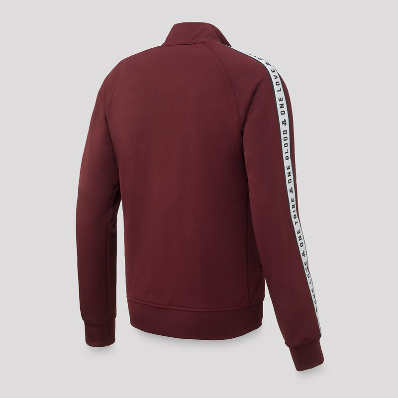Defqon.1 track jacket burgundy/white