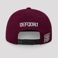 Defqon.1 snapback burgundy/black