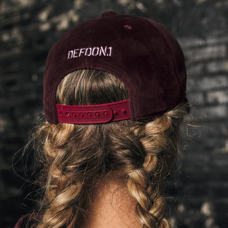 Defqon.1 baseball cap burgundy/velvet