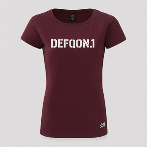 DEFQON.1 Defqon.1 t-shirt burgundy/white