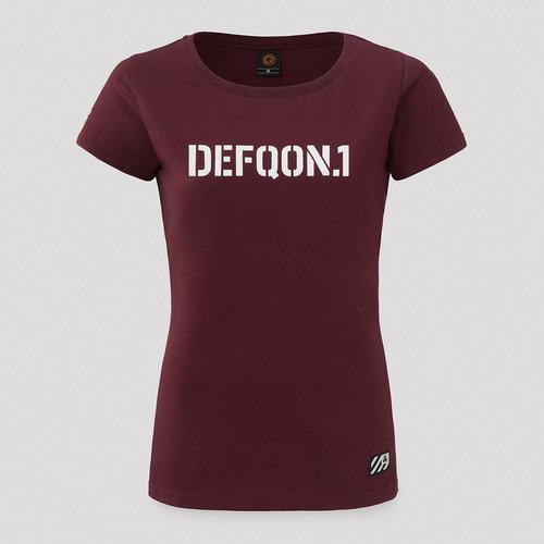 Defqon.1 t-shirt burgundy/white