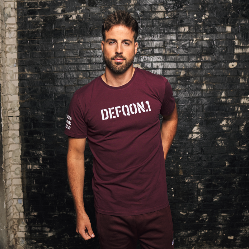 Defqon.1 t-shirt burgundy/white