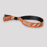 Impaqt woven bracelet orange/white
