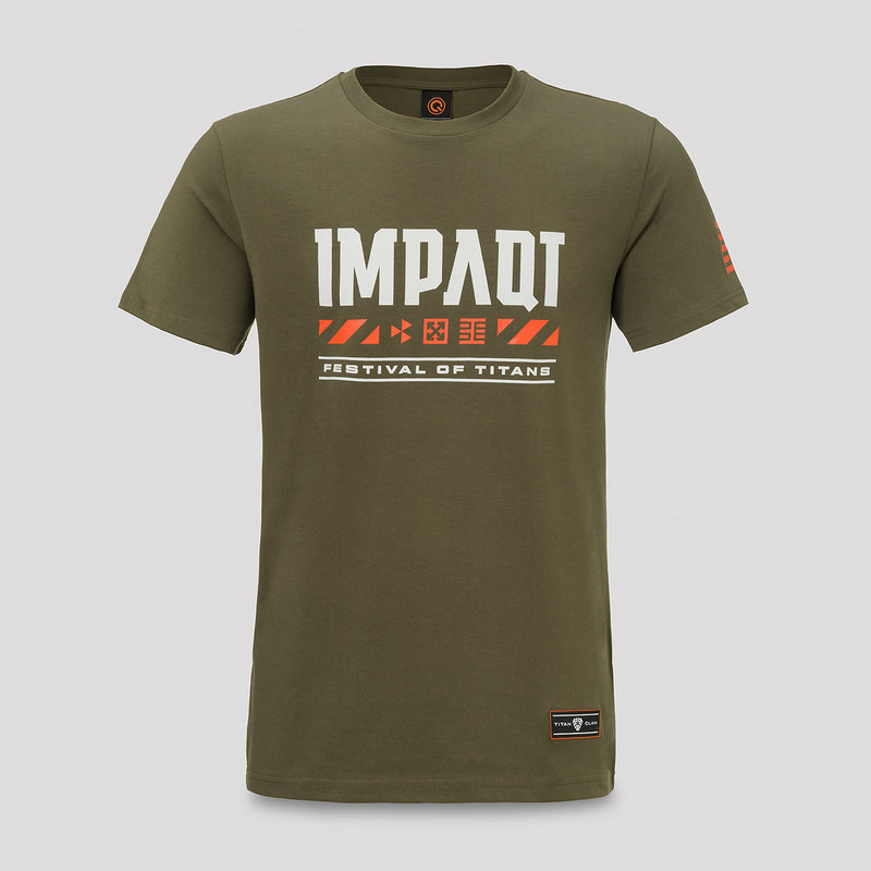 Impaqt t-shirt green/orange