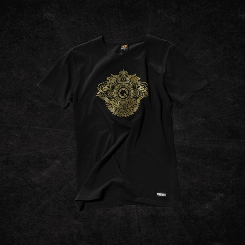 Dediqated t-shirt black/gold