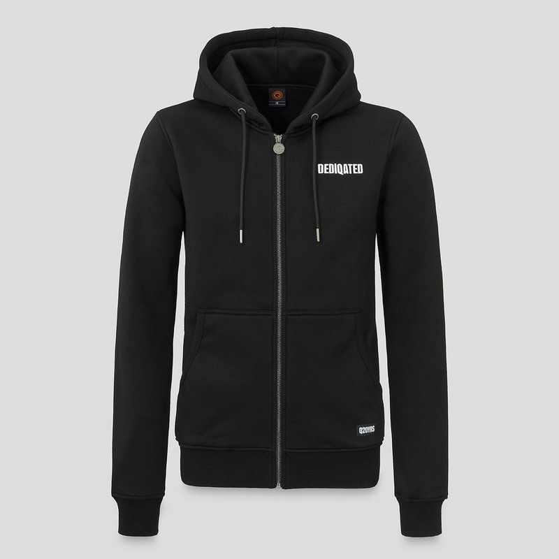 Dediqated hooded zip black/white