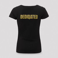 Dediqated t-shirt black/gold