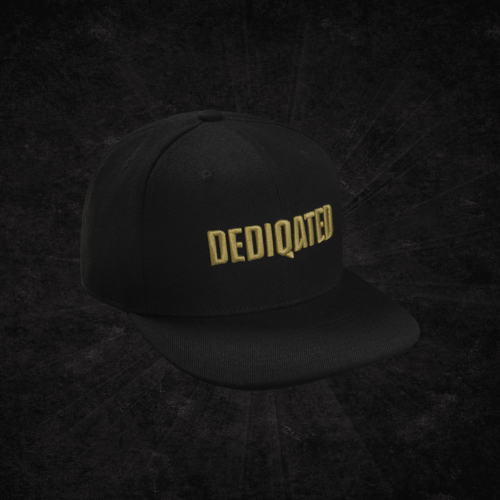 Dediqated snapback black/gold