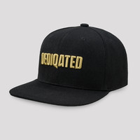 Dediqated snapback black/gold