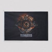 Dediqated theme flag black/gold