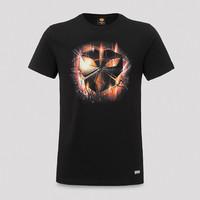 Inqontrol t-shirt black/orange