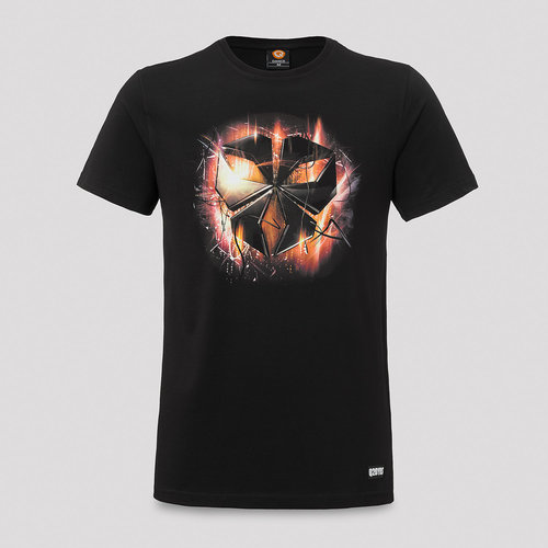 Inqontrol t-shirt black/orange
