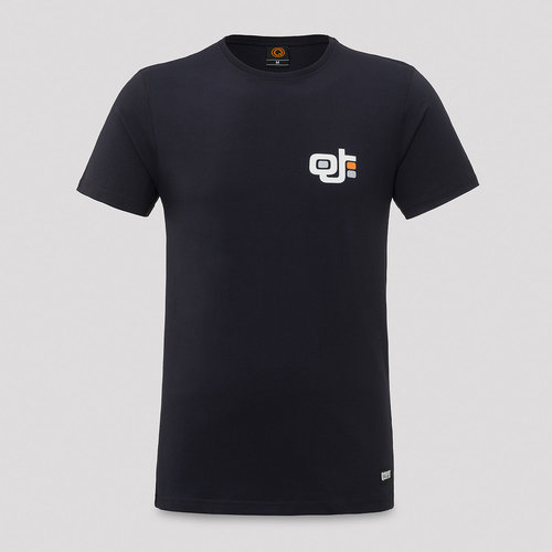 Qlub Tempo t-shirt navy/orange