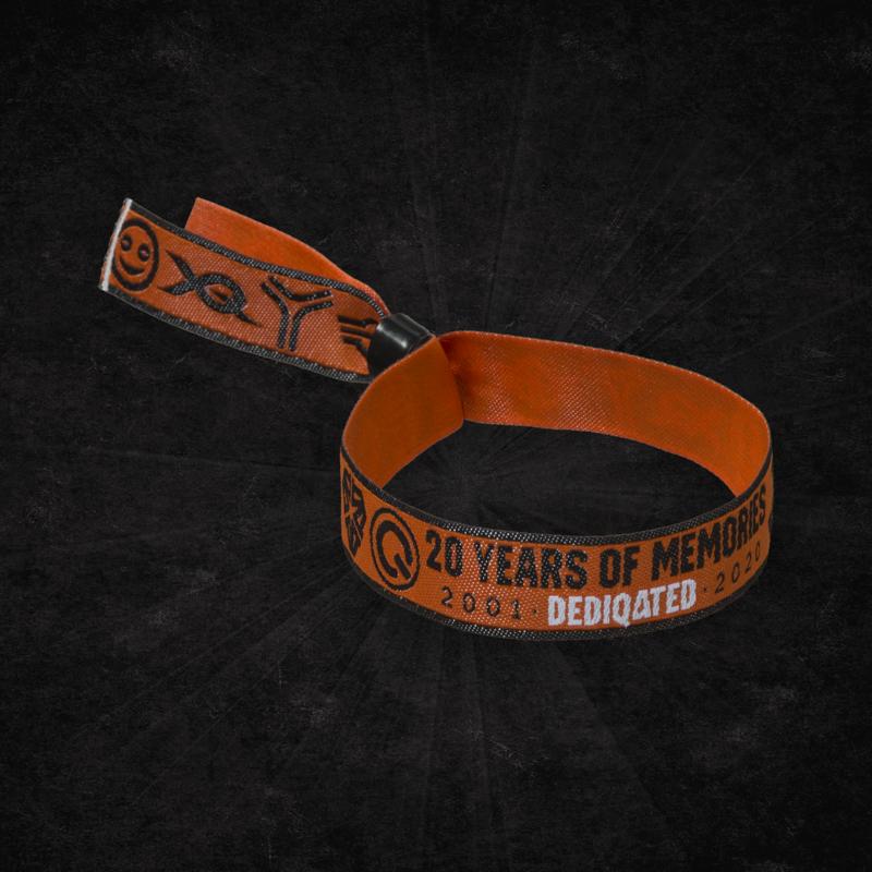Dediqated woven bracelet orange