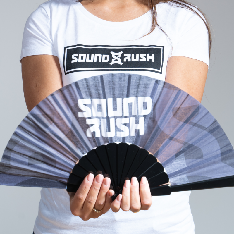 Sound Rush handfan black