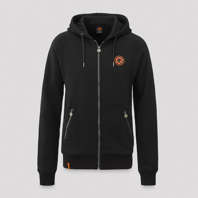 Q-Dance hooded zip black