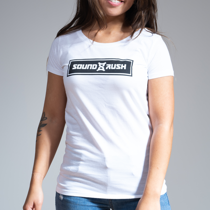 Sound Rush t-shirt white/black