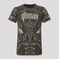Qlimax t-shirt anthracite/light grey