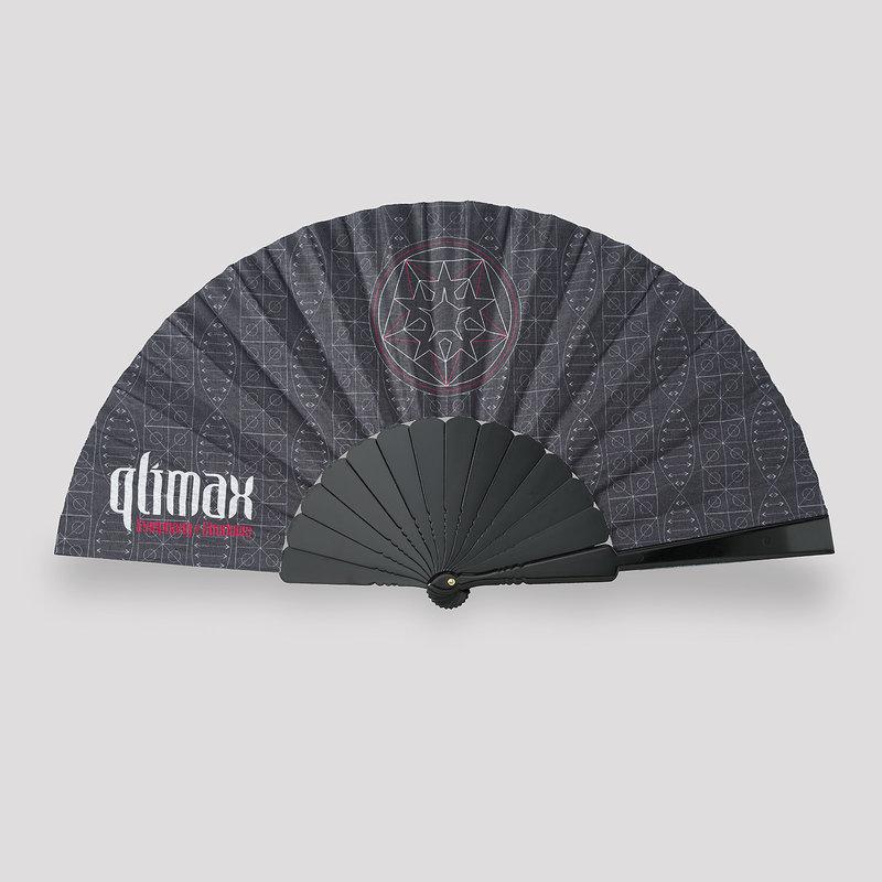 Qlimax handfan black/pattern