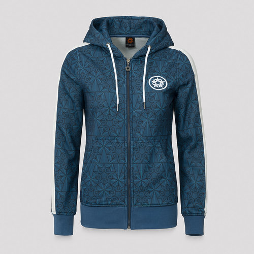 Qlimax hooded zip blue/pattern
