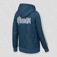 Qlimax hooded zip blue/pattern