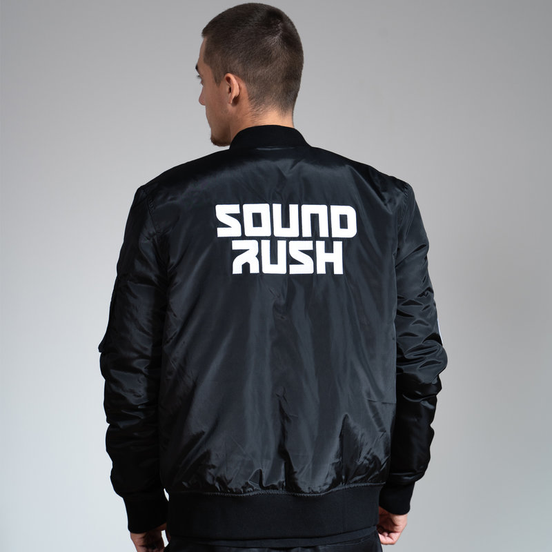Sound Rush bomber black/white