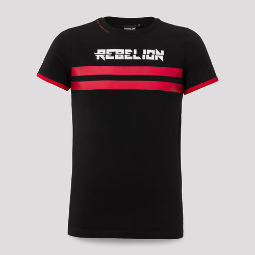 Rebelion t-shirt black/red