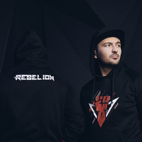 Rebelion hoodie black/red