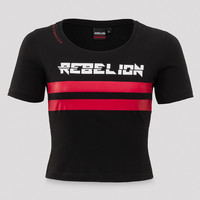 Rebelion short tee black/red