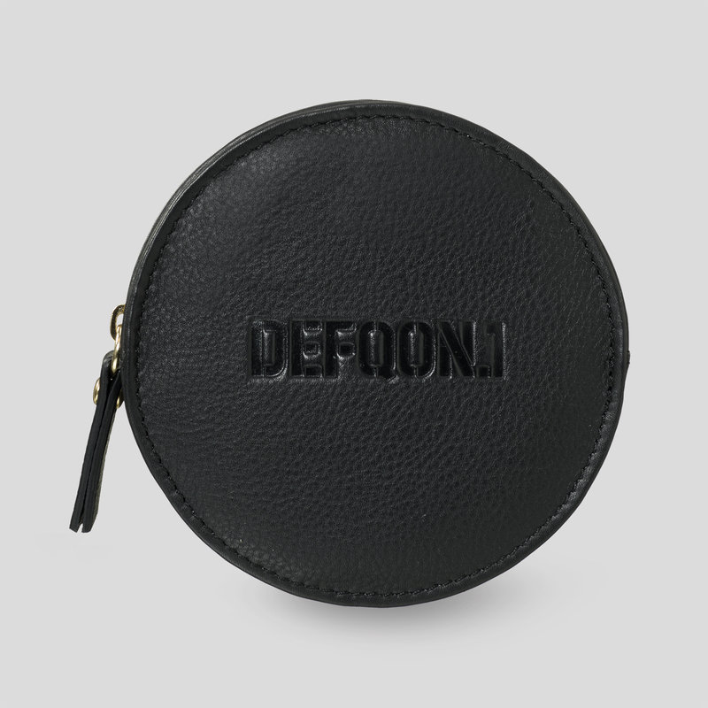 Defqon.1 leather round wallet