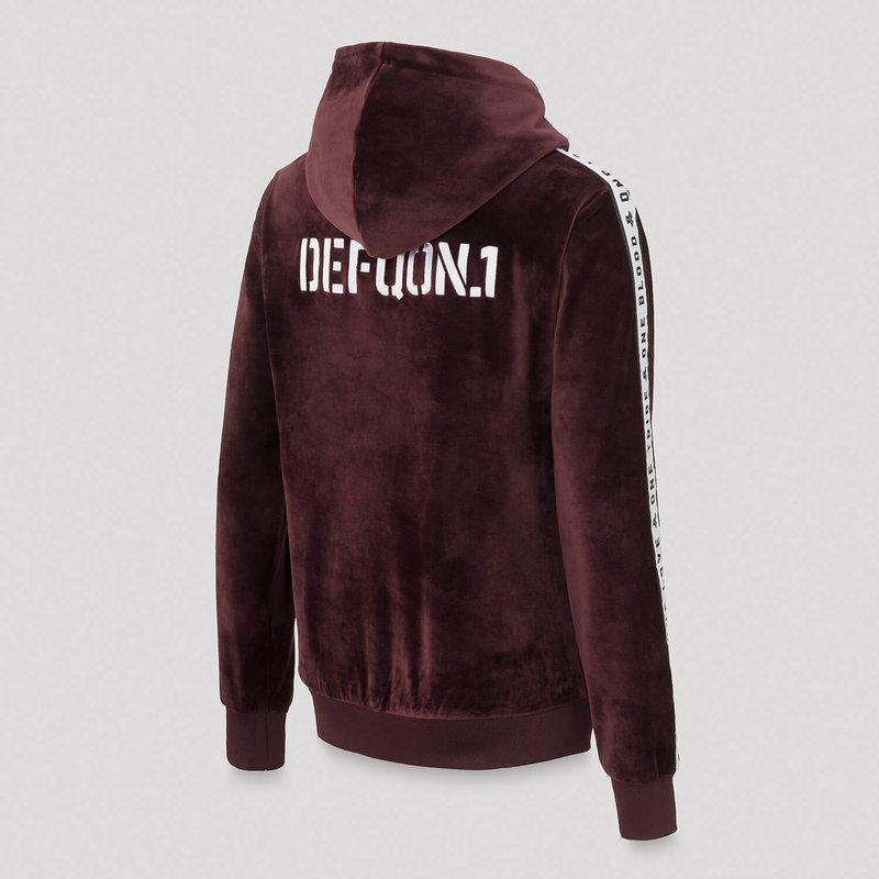 Defqon.1 boyfriend hoodie burgundy/velvet