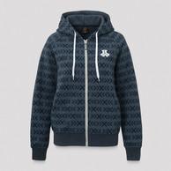 Defqon.1 boyfriend hooded zip navy/pattern